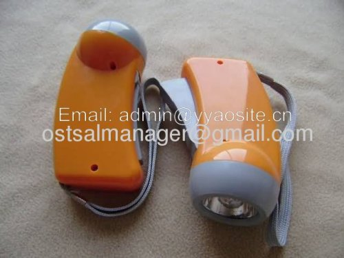 3led hand press dynamo torch