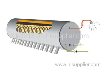 Solar water heater - Heating tube SWH with coil in tank