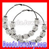Fashion Basket Ball Wives Hoop Earrings Rhinestone Studded Balls