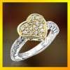 fashion women CZ sterling silver 925 ring with rhodium plating