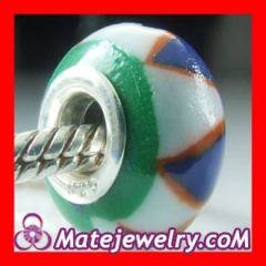 european style 925 sterling silver double cores Charm Jewelry Polymer Clay Beads