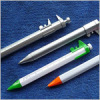 Plastic ball pen with caliper