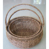 sea grass handle basket