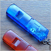Promotion led keyring with whistle