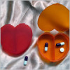 Heart shape 2 case plastic pill box
