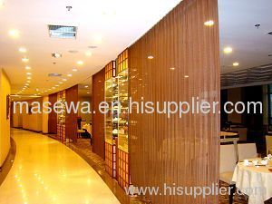 MASEWA metal fabric room divider golden color coil drapery