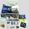 Tattoo Kit 2 Gun Machine With Power Supply Grips Back Stem Tube Ink Cups Needles