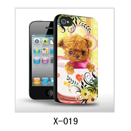 Lovely dog 3d picture of iPhone case,pc case rubber coated