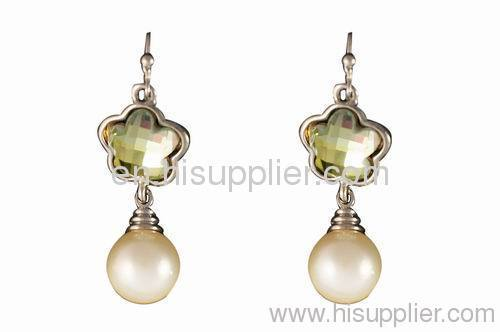 Flower Shaped Pearl Earrings