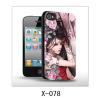 Art picture 3d iPhone4 case cover,pc case rubber coated