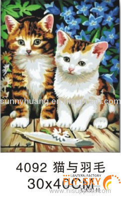 modern lovely animal oil painting by numbers for kids'gift and decoration 30*40cm