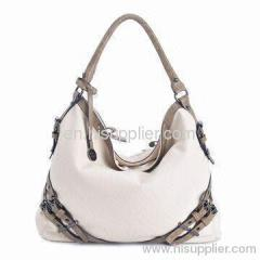 Fashionable Leather Handbag with Two Adjustable Strap for Strength and Single Handle H0728-1