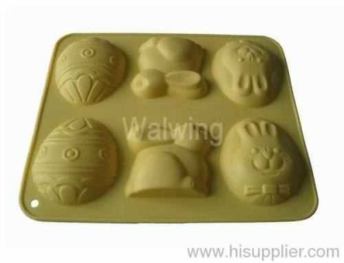 silicone cake mold in rabbit shape