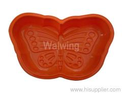 silicone baking pan in butterfly