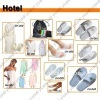 Hotel slipper & laundry bag & bathrobe