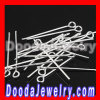 fashion Silver Plated Eye Pins For jewelry Earrings Accesories Wholesale