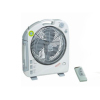 Rechargeable emergency light fan