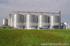 Grain steel silo with bolts and nuts