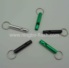 Mini outdoor Survival Key Chain Camping hiking Emergency Whistle Aluminum