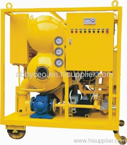 Insulating oil filtration machine/ oil recycling