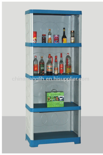 Combined five layers Plastic kitchen cabinet