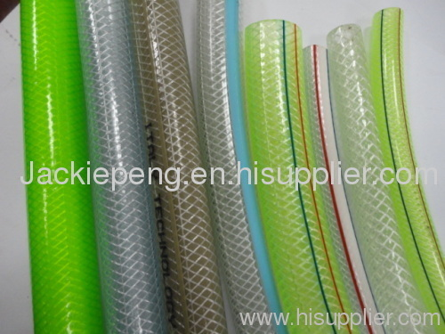 braid reinforced hose ,transparent hose .pvc hose
