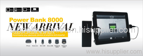 Power bank 8000 tablet charger