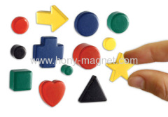 Ferrite magnet with painted in every colour