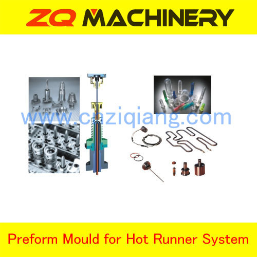 Plastic cap mould with hot runner system