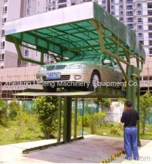Steel structure mini mechanical parking lift 2 posts-4 posts (PJS type)