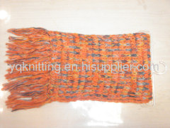Fashion lady acrylic knitted scarf
