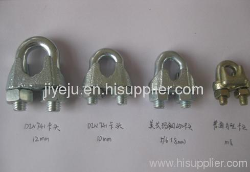 malleable steel wire rope clip