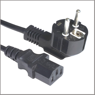 Schuko plug with C13 connector