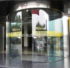 Automatic curved sliding door system
