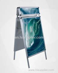 A board pavement sign swing frame display stand with header