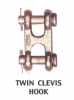 Twin clevis hook