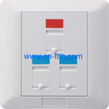Foursquare Three Port Face Plate 86*86 type