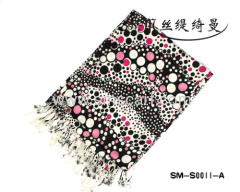 2012 Popular selling 100% Cashmere ladies scarf, women shawl wholesale and retail,Free Shipping SM-S0011