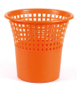 Red Color Plastic Wastepaper Garbage Can