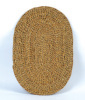 Door Mat From Straw Oval Shape