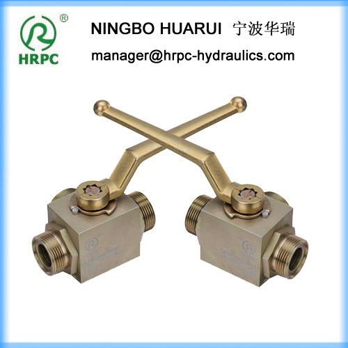 male threaded three way manual ball valve