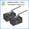 hydraulic manifold ball valve in carbon steel material