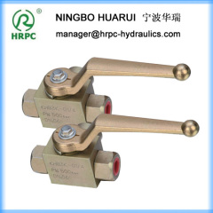 hydraulic 3 way high pressure ball valves in NPT1/2 inch