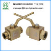 High pressure oil application yellow zinc plated hydraulic ball valve