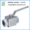 hydraulic high pressure 2-way female thread ball valve in threaded connection