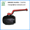 forged steel manual thread ball valve 4 with steel handle