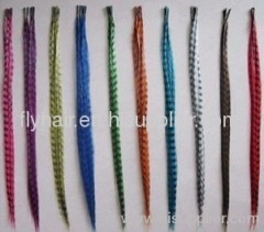 High quality new style synthetic colorful feather clip in hair extension