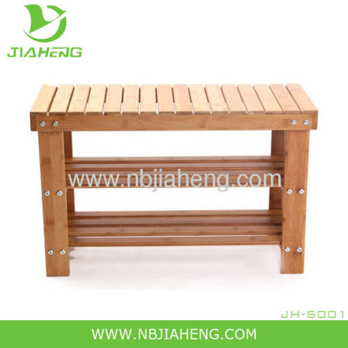 3 Shelf Bamboo Shoe Rack