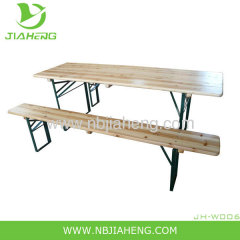 Fashion beer garden wooden table