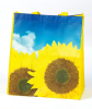 Sunflower Print Folding Shopping Bag